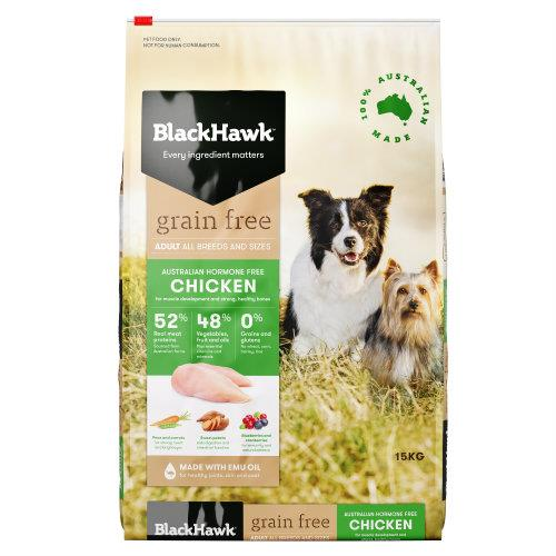 Black Hawk Adult Dog Food Grain Free Chicken 15kg