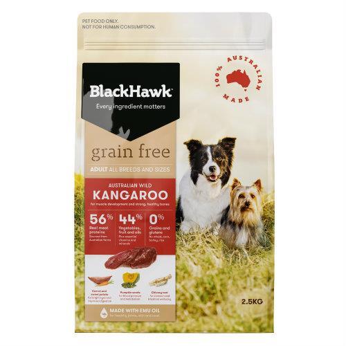 Black Hawk Adult Dog Food Grain Free Kangaroo 2.5kg
