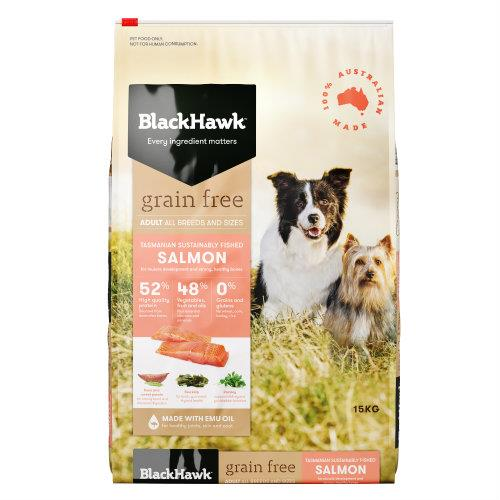 Black Hawk Adult Dog Food Grain Free Salmon 15kg