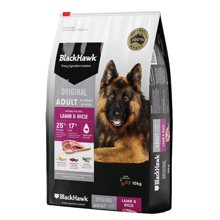 Black Hawk Adult Lamb & Rice Dog Food 10kg