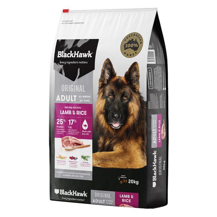 Black Hawk Adult Lamb & Rice Dog Food 20kg