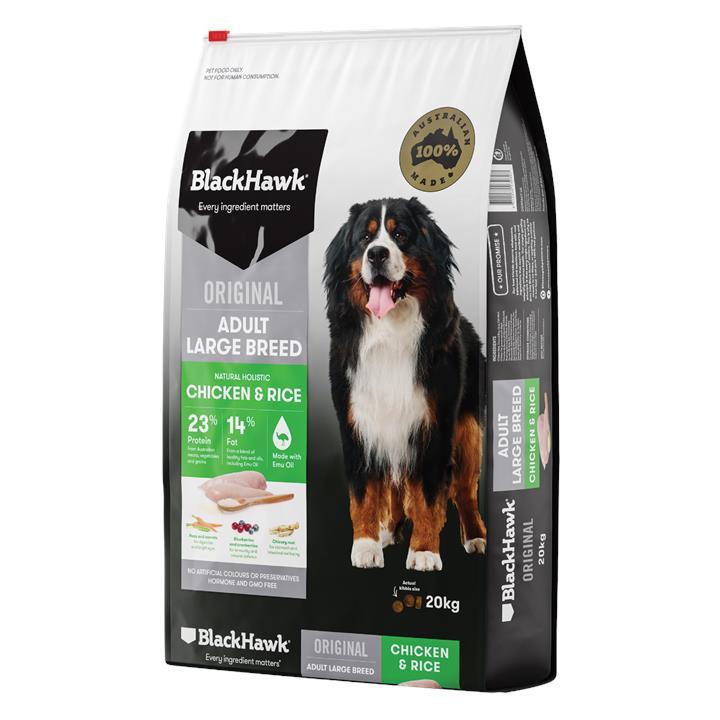 Black Hawk Adult Large Breed Dog Food 20kg