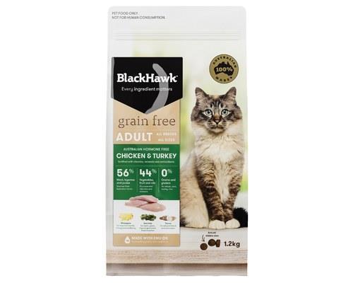 Black Hawk Cat Grain Free Chicken & Turkey 1.2kg