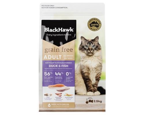 Black Hawk Cat Grain Free Duck & Fish 2.5kg