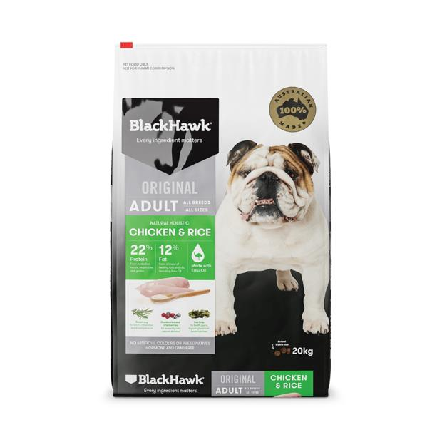 Black Hawk Chicken And Rice Adult 10kg