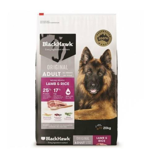 Black Hawk Dog Food Adult Lamb and Rice 20kg