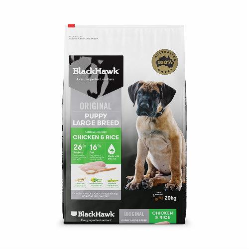 Black Hawk Dog Food Large Breed Puppy Chicken and Rice 20kg
