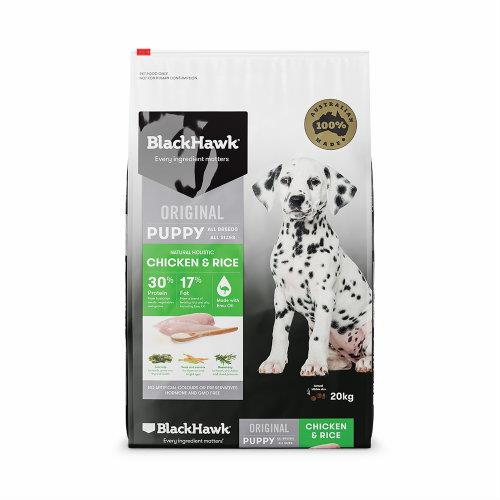 Black Hawk Dog Food Puppy Chicken and Rice 20kg