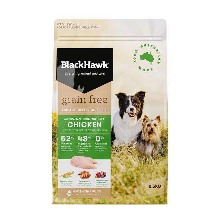 Black Hawk Dog Grain Free Chicken 2.5kg