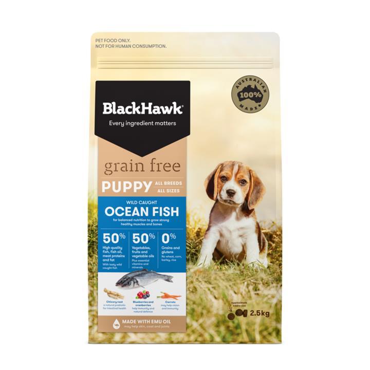 Black Hawk Puppy Grain Free Ocean Fish Dog Food 2.5kg