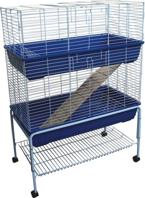 Bono Fido Rabbit Cage Double Storey with Stand 100 x 55 x 145cm