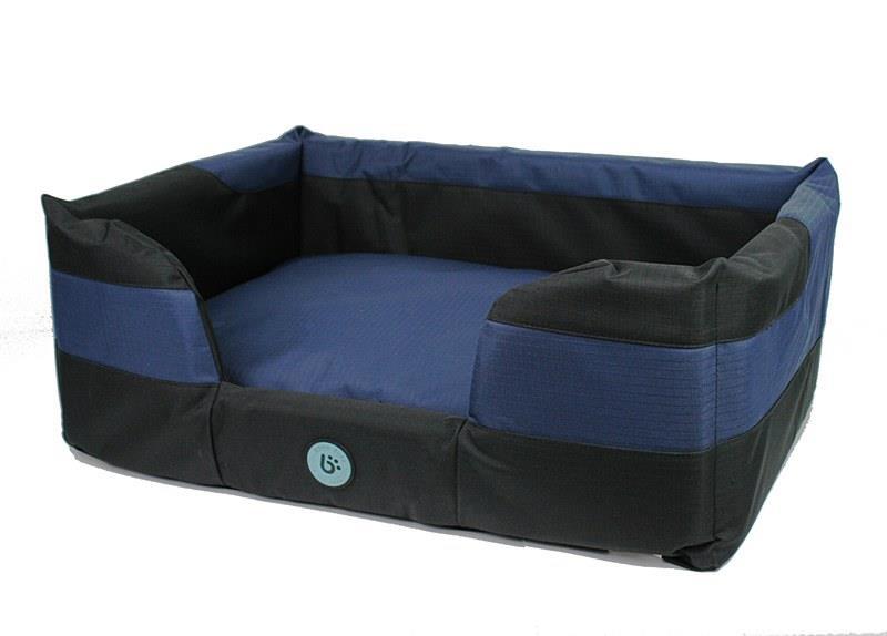 Bono Fido Staydry Basket Blue Dog Bed Medium