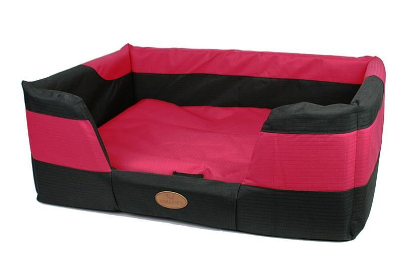 Bono Fido Staydry Basket Red Dog Bed Large