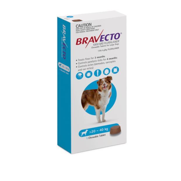 Bravecto Large Dog Blue 2 X 2 Pack