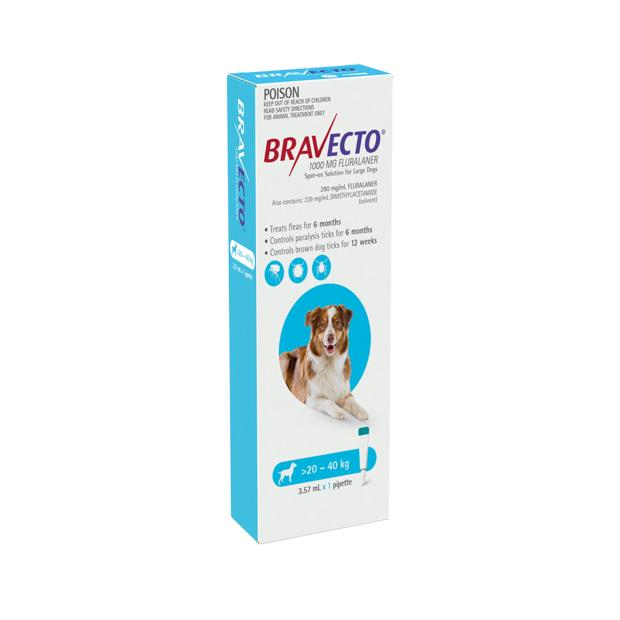 Bravecto Spot On For Dogs Blue 2 X 1 Pack