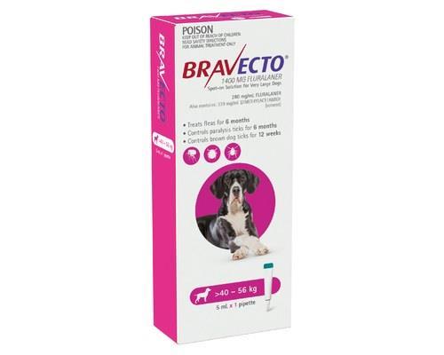 Bravecto Spot On Very Large Dog Pink 40 - 56kg 1 Pack