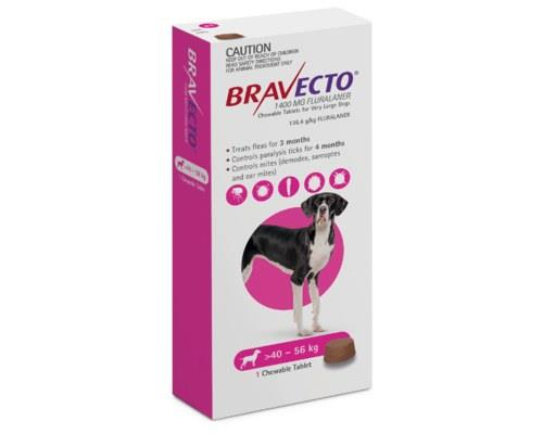 Bravecto Spot-on For Very Large Dogs 40-56kg 1 Pack (pink)