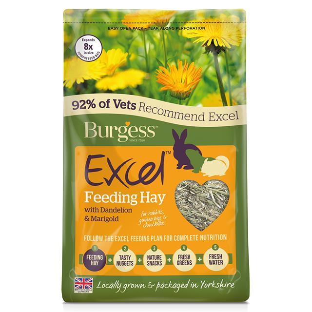 Burgess Excel Dandelion And Marigold Timothy Herbage 1kg
