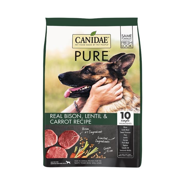CANIDAE® PURE Real Bison Lentil & Carrot Grain Free Dry Dog Food 9.53kg