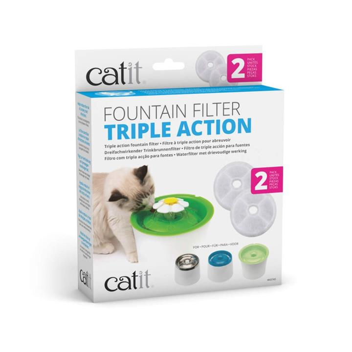 Catit 2.0 Senses Flower Cat Water Fountain Filter 2 Pack