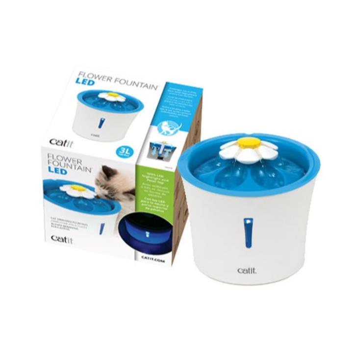 Catit 2.0 Senses Flower Cat Water Fountain with LED Light 3L