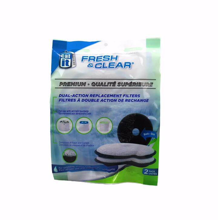 Catit Fresh & Clear Replacement Filter Cartridges 2 Pack