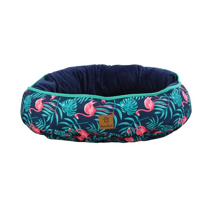 Charlie's Funk Nest Flamingo Dog Bed Medium