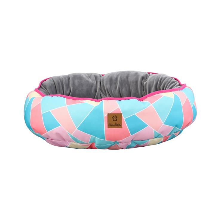 Charlie's Funk Nest Multi Triangle Dog Bed Medium