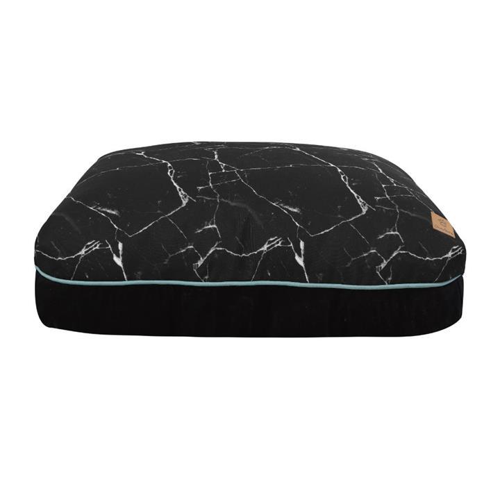 Charlie's Funk Pad Black Marble Dog Bed Large