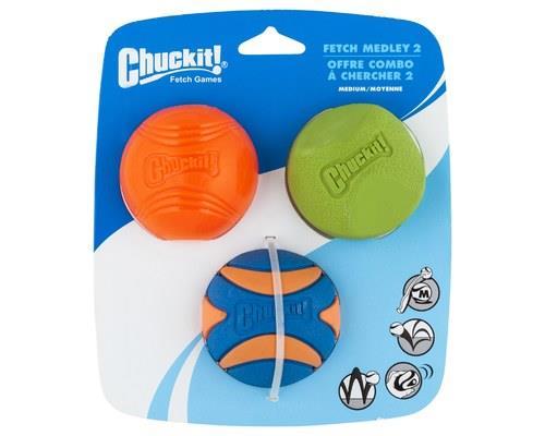 Chuckit Fetch Medley 2 Medium 3 Pack
