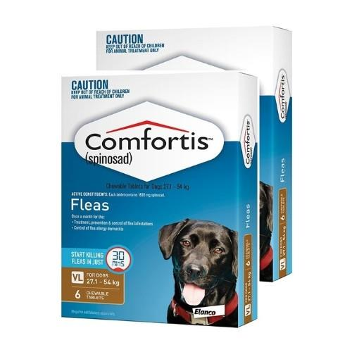 Comfortis Extra Large 27-54kg Brown 12 pack