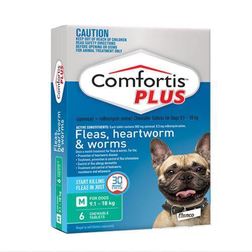 Comfortis Plus Green 9.1-18kg 6 pack