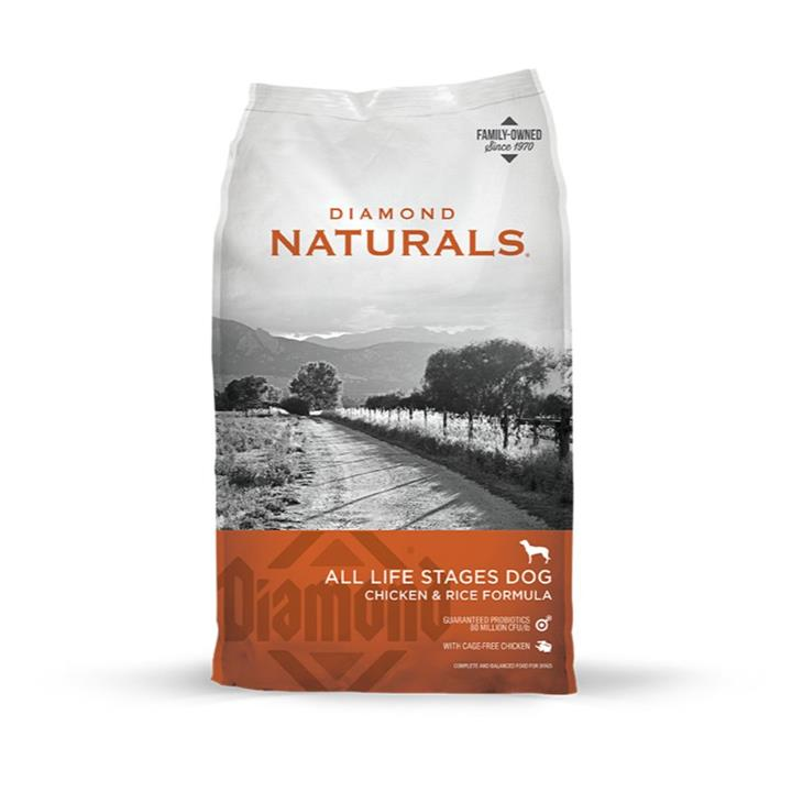 Diamond Naturals Adult Chicken & Rice Dog Food 18kg