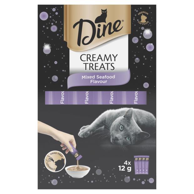 Dine Creamy Treats Mixed Seafood 4 X 12g