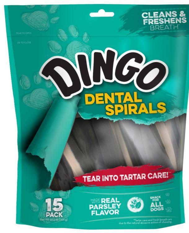 Dingo Dental Spiral Dog Treats 300g