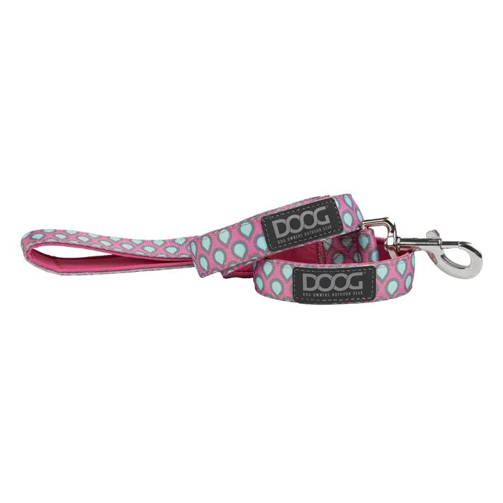 Doog Luna Dog Lead Small Pink with Tear Drops