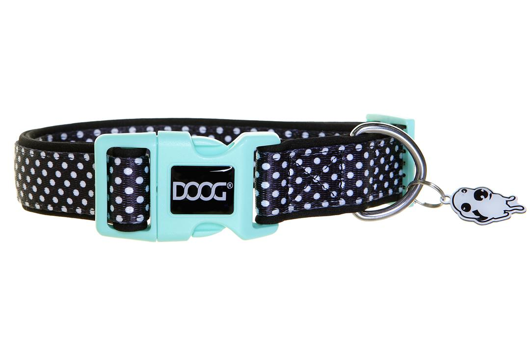 Doog Pongo Dog Collar Black & White Spots extra Small