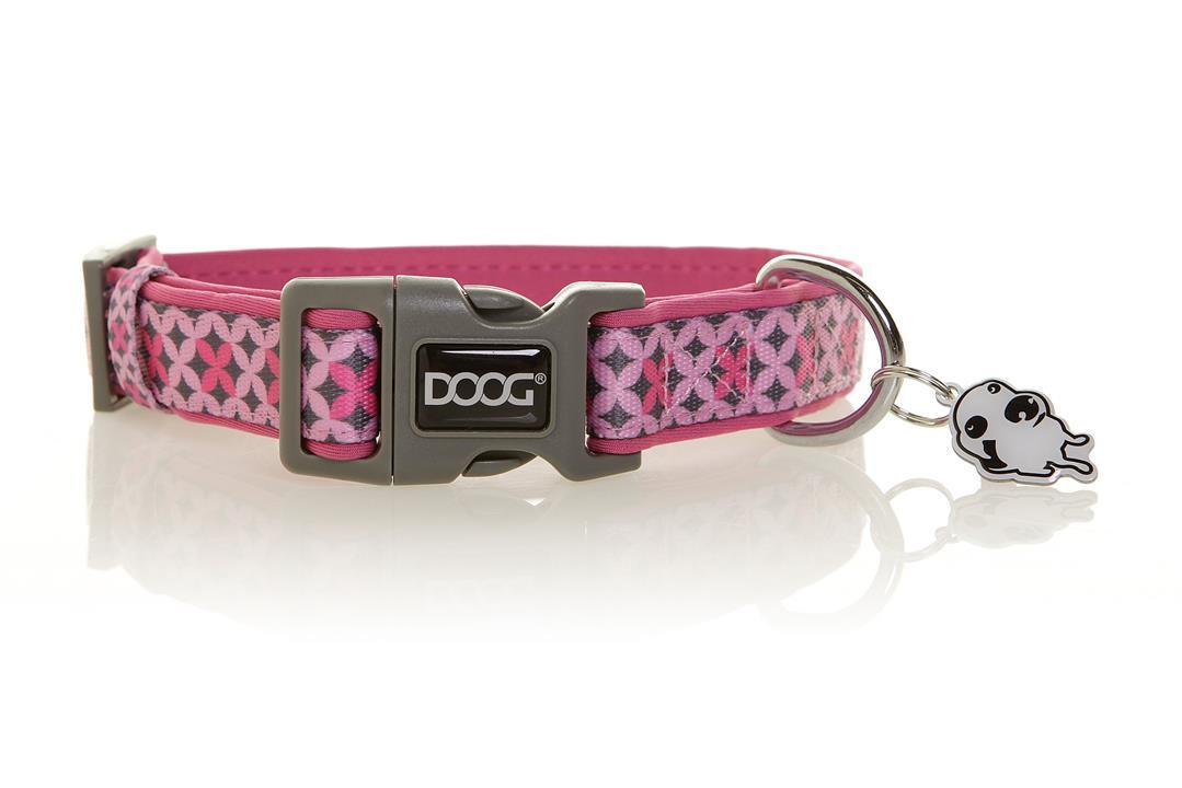 Doog Toto Collar Pink & Grey