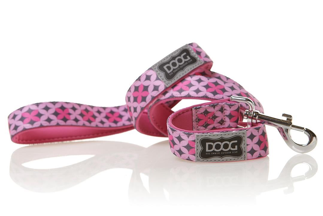 Doog Toto Lead Pink & Grey