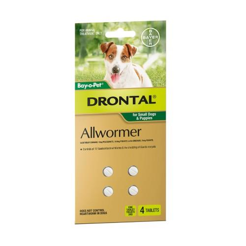 Drontal Allwormer Tablets Small 3kg 4 pack
