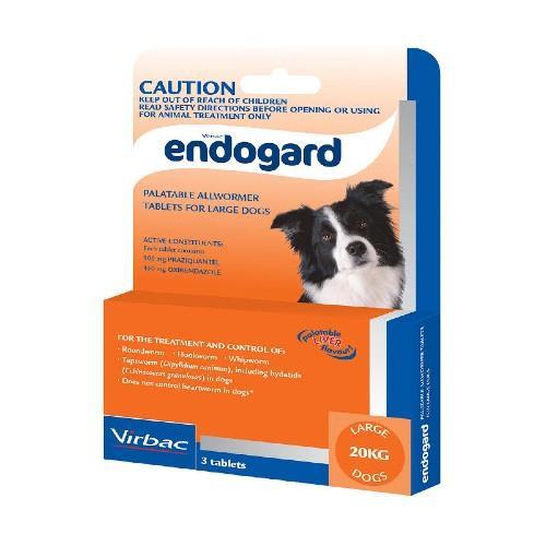 Endogard Large Dogs 20kg+ 3 pack