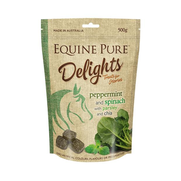 Equine Pure Delights Peppermint Spinach Parsley And Chia 500g