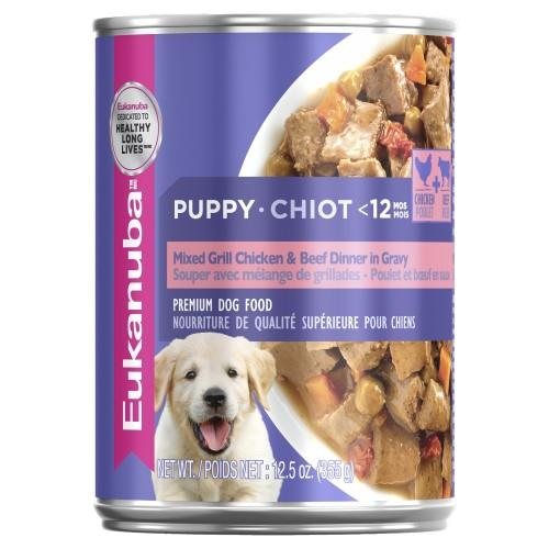 Eukanuba Puppy Mixed Grill Chicken and Beef Dinner in Gravy Cans...