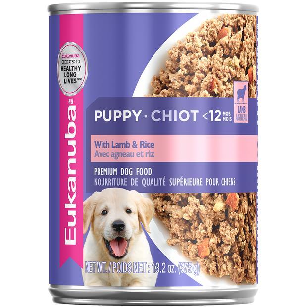 Eukanuba Wet Dog Food Puppy Lamb Rice 12 X 375g