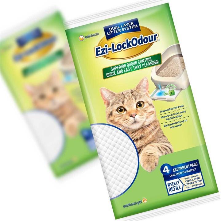 Ezi LockOdour Absorbant Cat Litter System Pads - 4 Pack