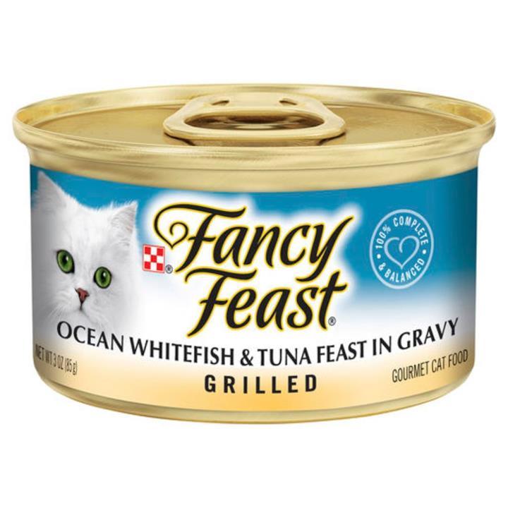 Fancy Feast Grilled Ocean Whitefish in Gravy Wet Cat Food 24x85g