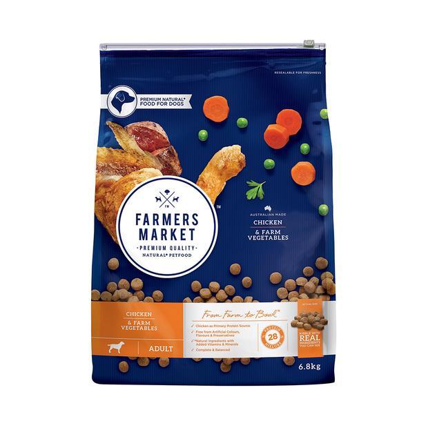 Farmers Market Dry Dog Food Adult Chicken Vegetables 6.8kg