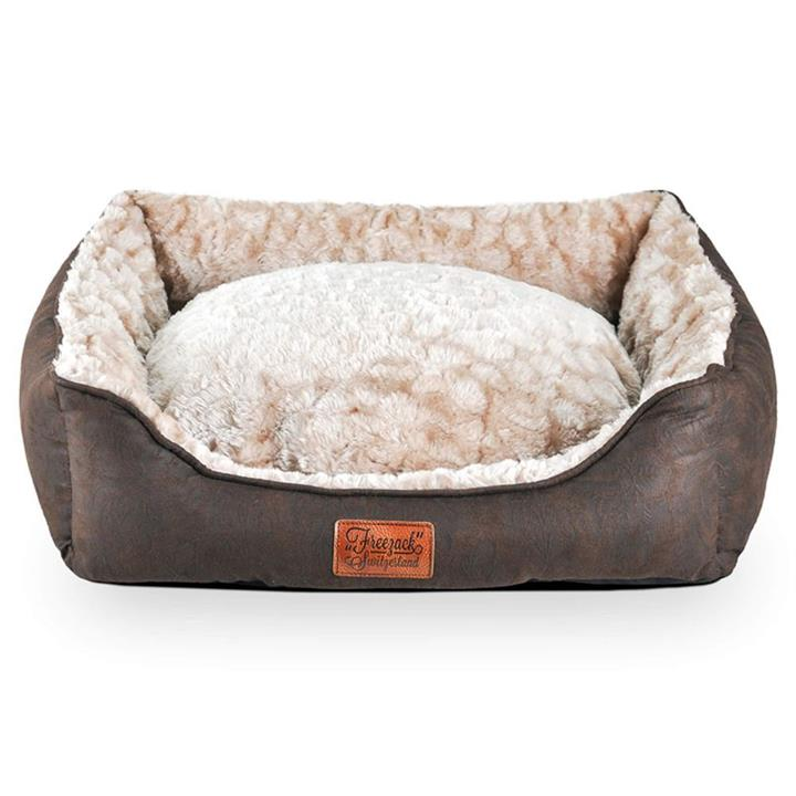 Freezack Volant Sherpa Sofa Dod Bed Brown & Beige Small