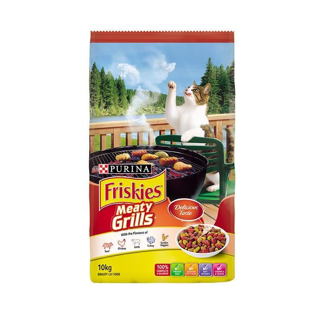 Friskies Dry Cat Food Adult Meaty Grills 2.5kg