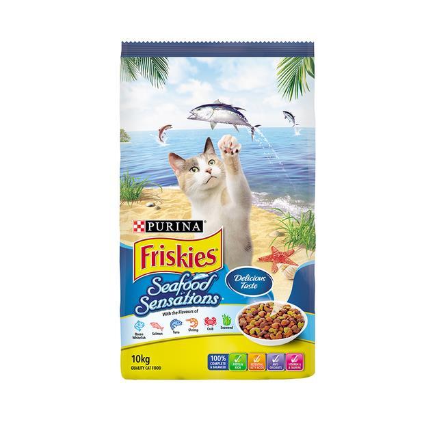 Friskies Dry Cat Food Adult Seafood Sensations 2.5kg